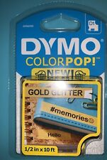 Dymo Colorpop Label Maker Tape 05 Inch By 10 Inches Black On Gold 1 Pack