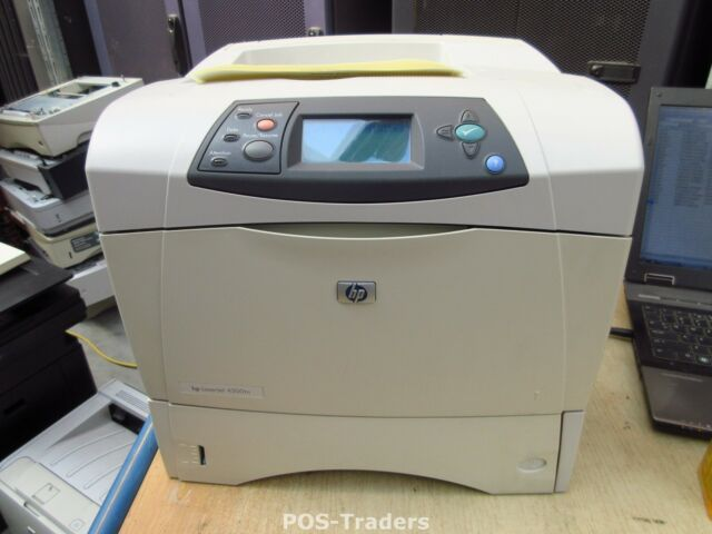 HP 4300TN Q2433 NETWORK A4 Mono B/W RJ-45 Laser Drucker Printer LPT PRINT OK