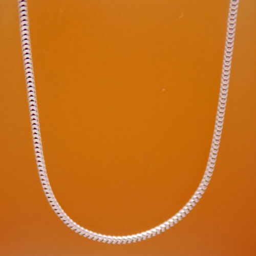 """Classic 925 Sterling Silver Italy Unisex Snake Chain Necklace 45 cm 17.7/"""" Long"""