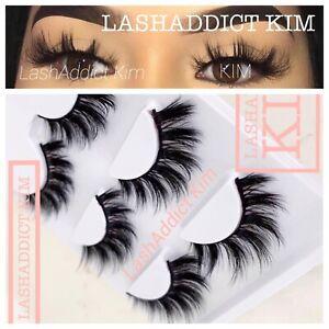 TOP-Lashes-3-Pairs-3D-Mink-Fur-lashes-Or-5-pairs-False-Eyelashes-US-SELLER