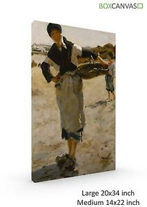 French-Canvas-S4-ArtS-John-Singer-Sargent-Breton-Woman-With-A-Basket-A