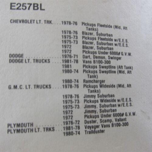 NOS 1974-1980 PLYMOUTH TRAILDUSTER DODGE PICKUP TRUCKS D-SERIES GAS FUEL CAP