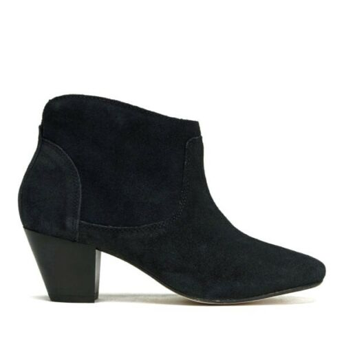 cubana con de Zapatos Kiver By 3 Hudson gamuza cuero negra Botines H SRx7wq8a8