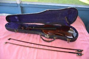 Nikolaus Amati Violin Salvador Durro B&J New York W/ Vuillaum A Paris Bow