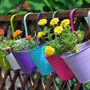 Blumentopfe Hangend Metall Pflanzen Balkon Garten Blumenhalter