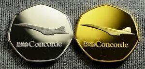 Details about BRITISH AIRWAYS CONCORDE JET  SOUVENIR  50p SHAPE COIN HUNT   NEW DUO SET