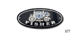 1955-1956-1957-Chevrolet-Chevy-577-Pair-SILL-PLATE-TAGS-034-Body-by-Fisher-034