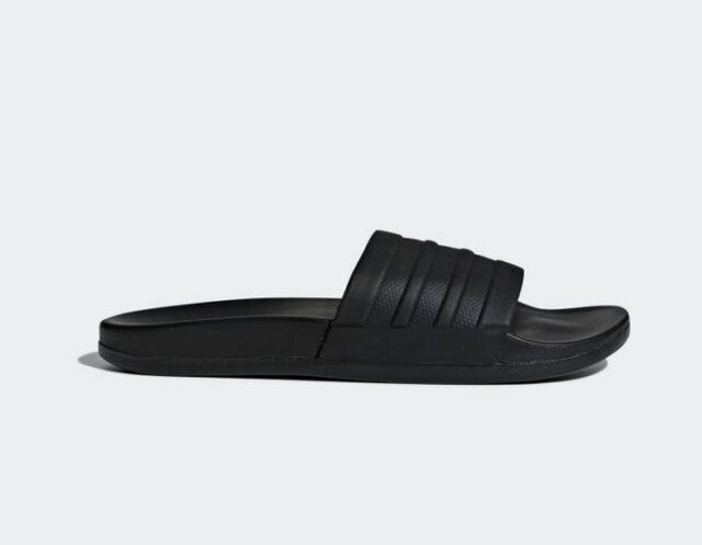 New Mens Adidas ADILETTE CF Mono Slides Sandals Black Flip Flops Cloudfoam Plus