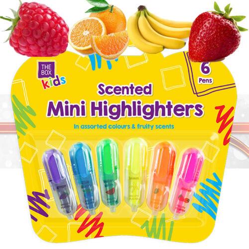6x Duftende Mini Textmarker Früchte Marker Früchte Duft Marker Neon Marker Obst