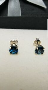 2-00-CARAT-14K-SOLID-White-GOLD-BLUE-TOPAZ-ROUND-SHAPE-STUD-EARRINGS-6-5MM