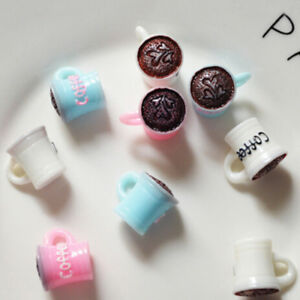 2Pcs Kitchen room food drink cup for doll diy miniature dollhouse coffee cup SP