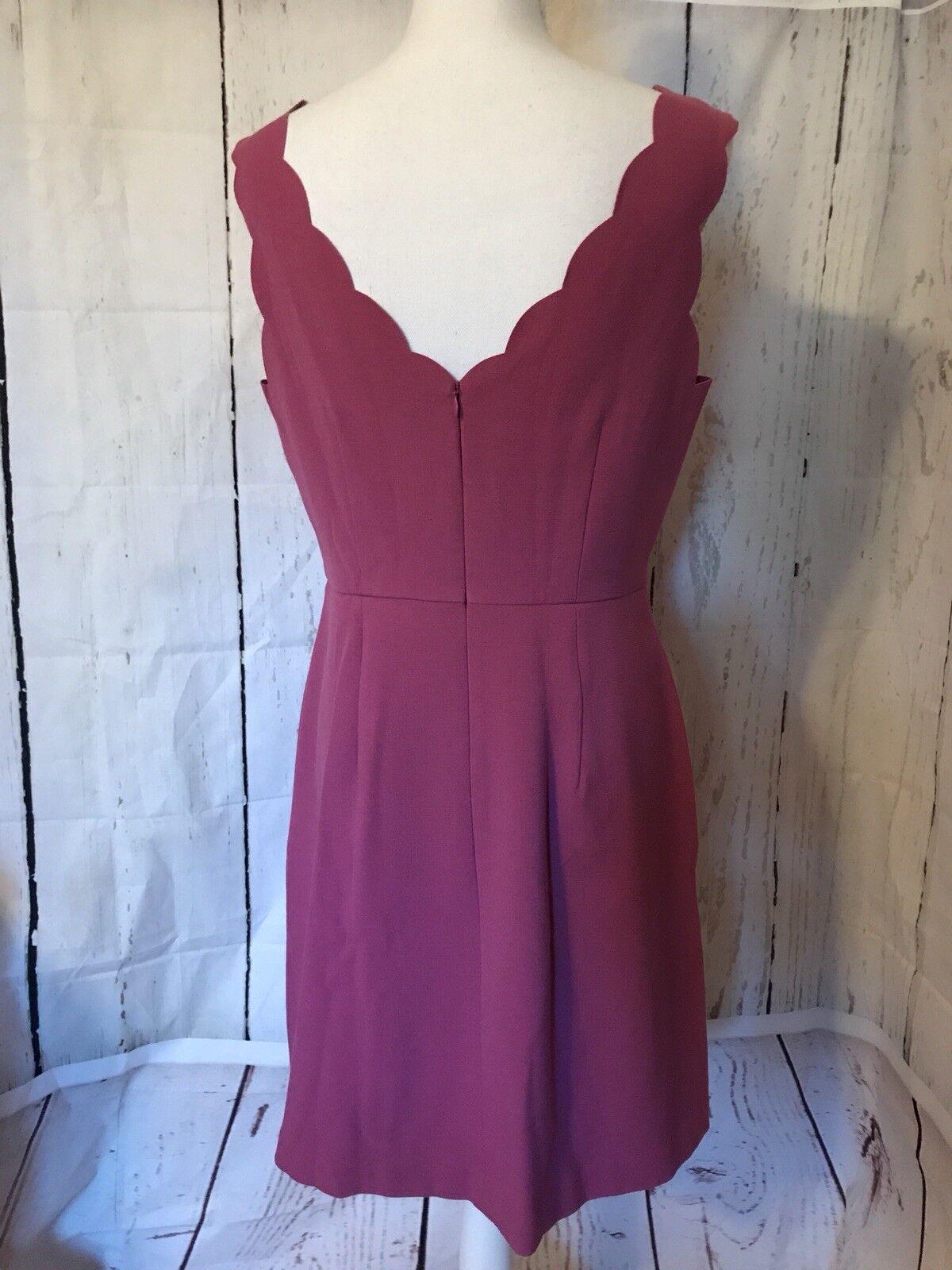 111a6dd903e ... Ann Taylor Loft Dusty pink Pink Scalloped Sleeveless Dress Dress Dress  Women s Size 10 NWT e21829 ...