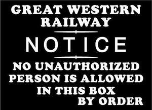 Cartello-da-parete-GWR-Nessuna-persona-non-autorizzata-acciaio-smaltato