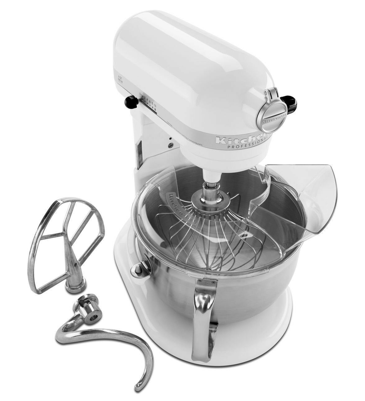 KitchenAid kp26n9xwh 6-Quart robot mélangeur professionnel Lift Blanc Nouveau