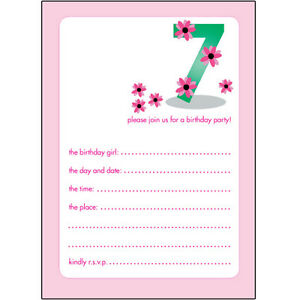 10 childrens birthday party invitations 7 years old girl nice bpif
