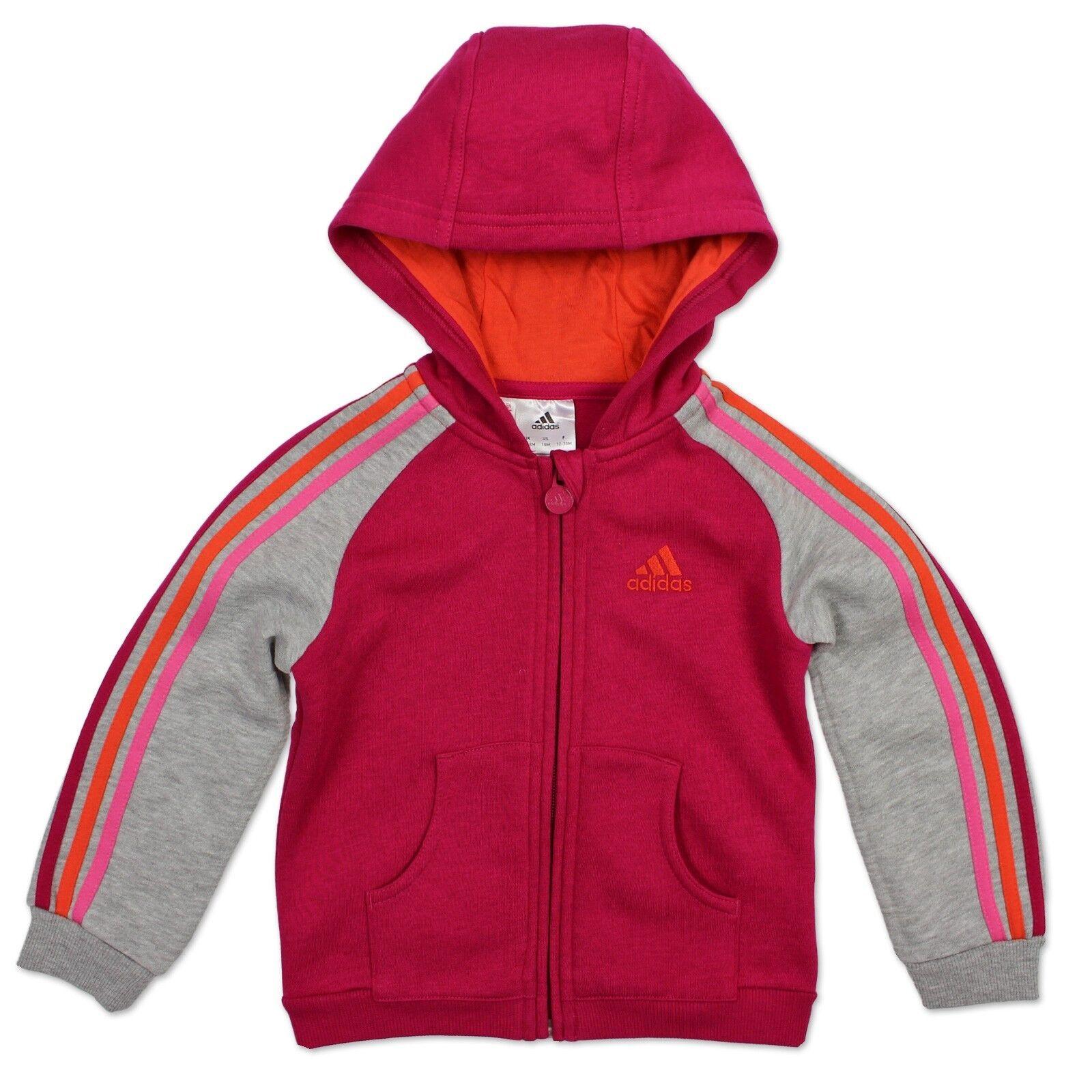 Adidas Performance - Sweat à capuche pour enfants - Sweat à capuche gris rose 86