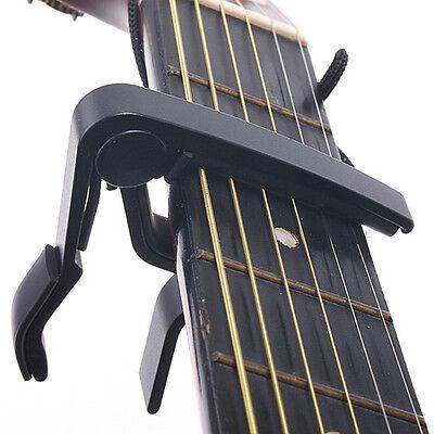 Classic Guitar Quick Change Clamp Key Black Guitar Capo Acoustic Electric Tool
