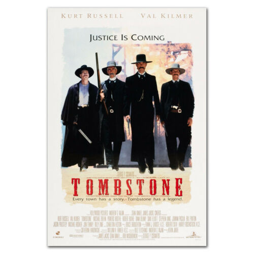 P211 Tombstone Movie Poster Western Classic Film PRINT 24x36/'/'