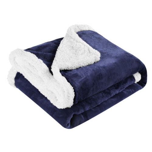 Winter Warm Soft Faux Fur Fleece Plush Throw Blanket Rug polyester Cozy Bed Sofa