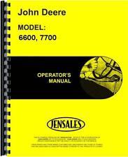 John Deere 6600 7700 Sidehill Combine Operators Manual Jd O Omh100537