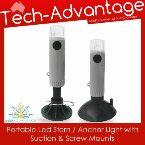 SUCTION /& SCREW MOUNTS PORTABLE WATER-RESISTANT LED STERN//ANCHOR LIGHT