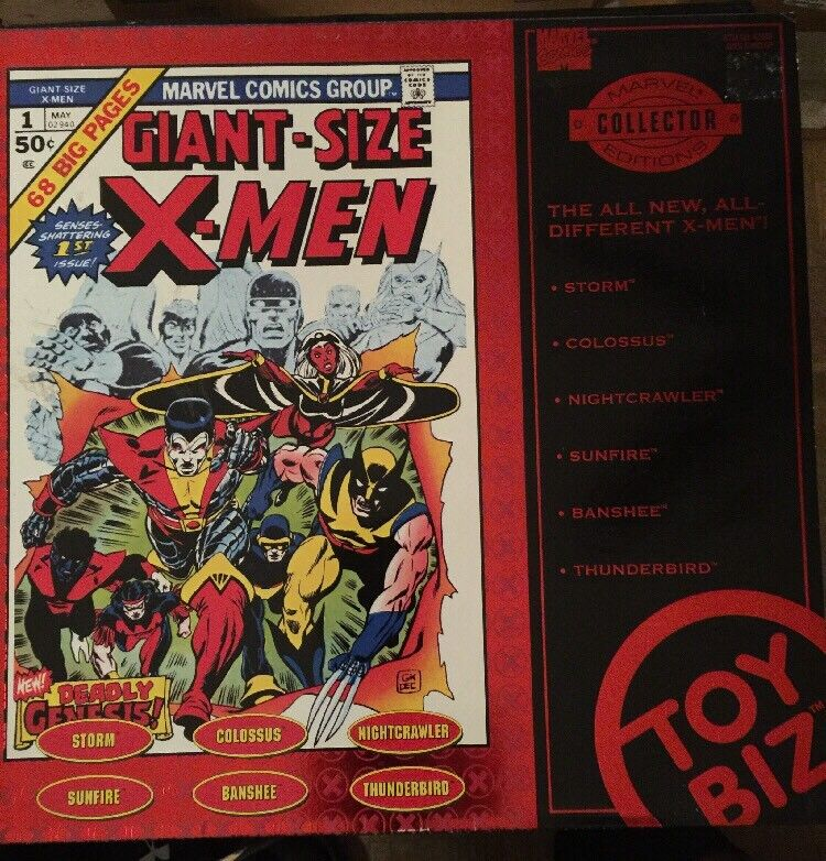 Marvel Collector Editions of Giant Size X-Men  Red Box Set Of 6 Figures  Rare.