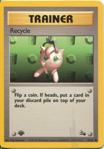 Pokemon Fossil 1st Edition Common Card #61 Recycle