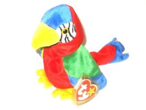 Jabber The Parrot Ty Beanie Baby Original Retired 1997 1998 Tag ... fcd3e3dc17a8