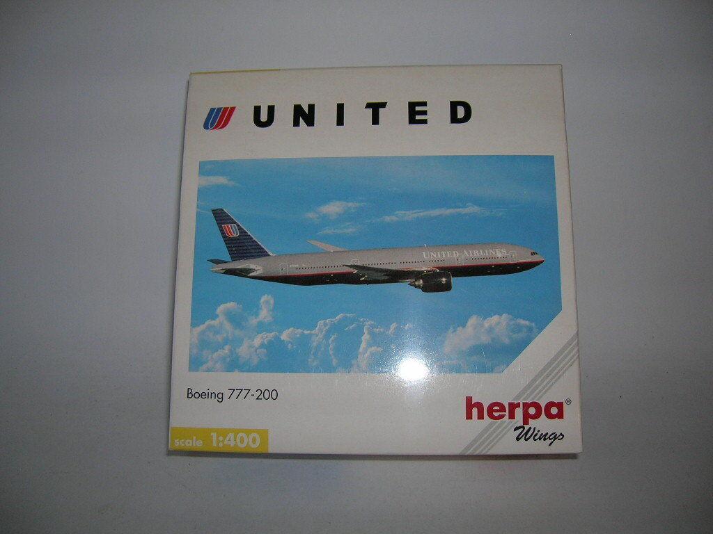 garantía de crédito Herpa Wings Boeing 777-200 United Airlines, 1 400 Art. 560092 560092 560092 Avión Aircraft  bienvenido a comprar