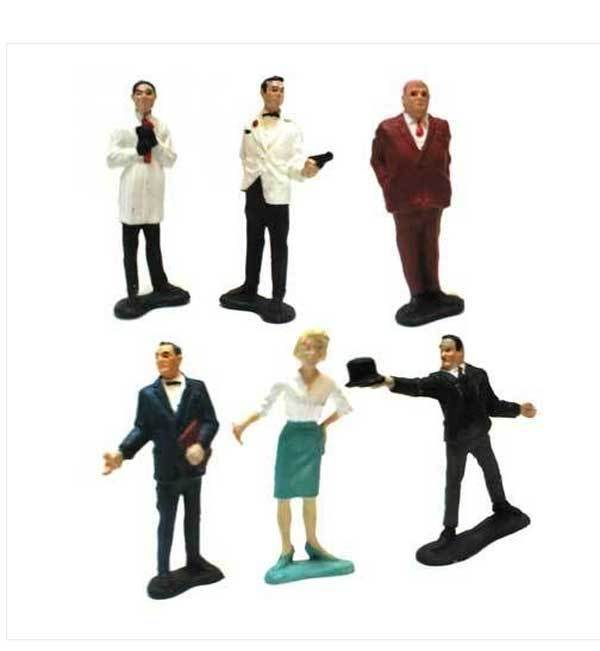 Vintage retro - 1960 ist james bond 007 agentenfilm zahlen von gilbert spielzeug usa selten