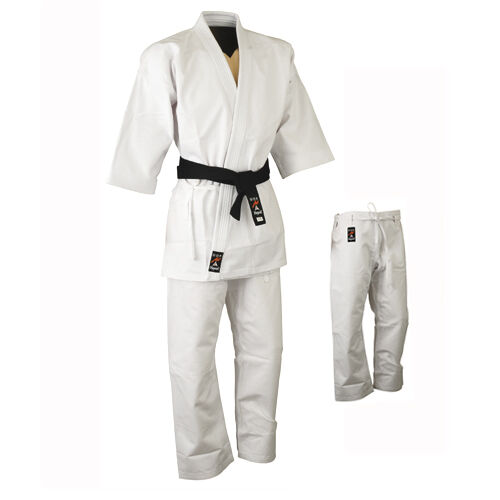 Playwell Karate 16oz Heavyweight Uniform White Japanese Cut Gi Martial Arts