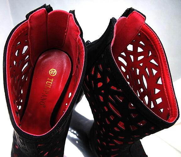 Hohe Plateau Stiefel High Schwarz Damen N50 Sandalen Pumps Schuhe High Stiefel Heels 37 63f8cd