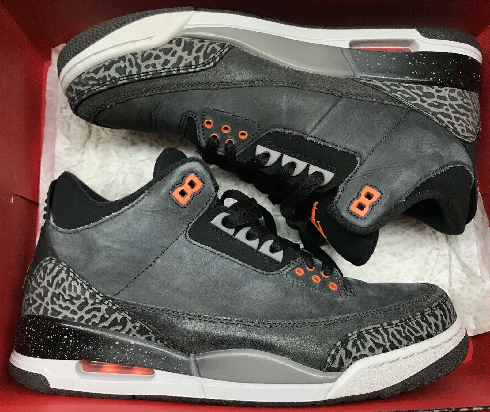 Jordan Retro III 3 Fear grigio arancia nero bianca Cement IV V 626967-040 Sz 10.5