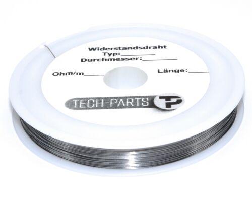 0.3mm 70/% de níquel - NiFe 70 Cable 29 AWG - 2.286 ohmios//m-tcr 5000