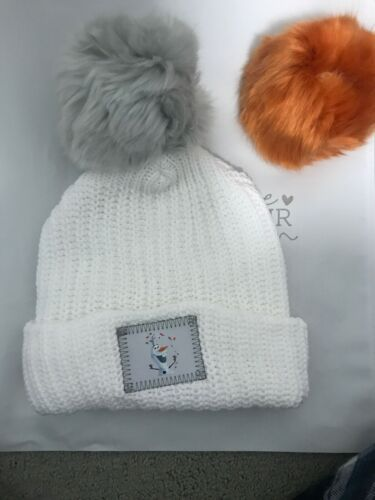 Disney Love Your Melon Frozen Olaf Kid/'s Size 2 Pom Hat