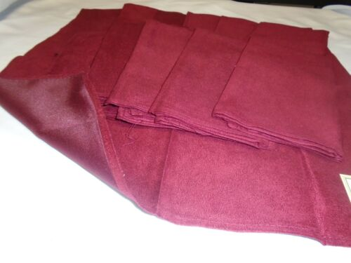 12 PACK AMERICAN DAWN 100/% POLYESTER FAUX SUEDE DINNER NAPKIN 18X18 RED//BURGUNDY
