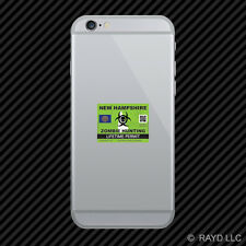 Zombie New Hampshire State Hunting Permit Cell Phone Sticker Mobile Nh