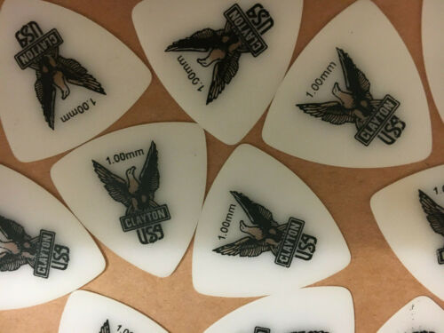 CLAYTON USA 1.00MM ACETATE GUITAR PICKS X 25 BRAND NEW