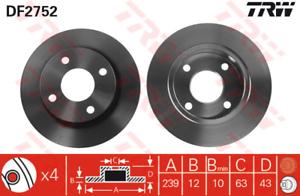 TRW DF2752 2 Stück Bremsscheibe