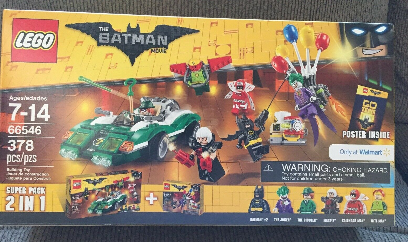 Lego Batman Película 66546 Super Pack 2 en 1 Walmart Limited Edition 70900 70903