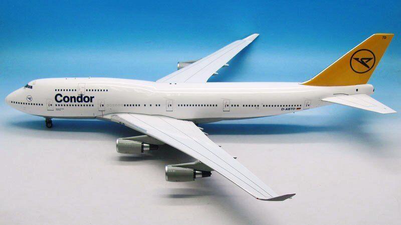 Wbclassicc 400 jfox 1 200 Condor Boeing 747-400 D-abtd con soporte de edición limitada