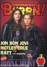Burrn! Heavy Metal Magazine July 1997 Japan Royal Hunt Bon Jovi Ratt Slaughter