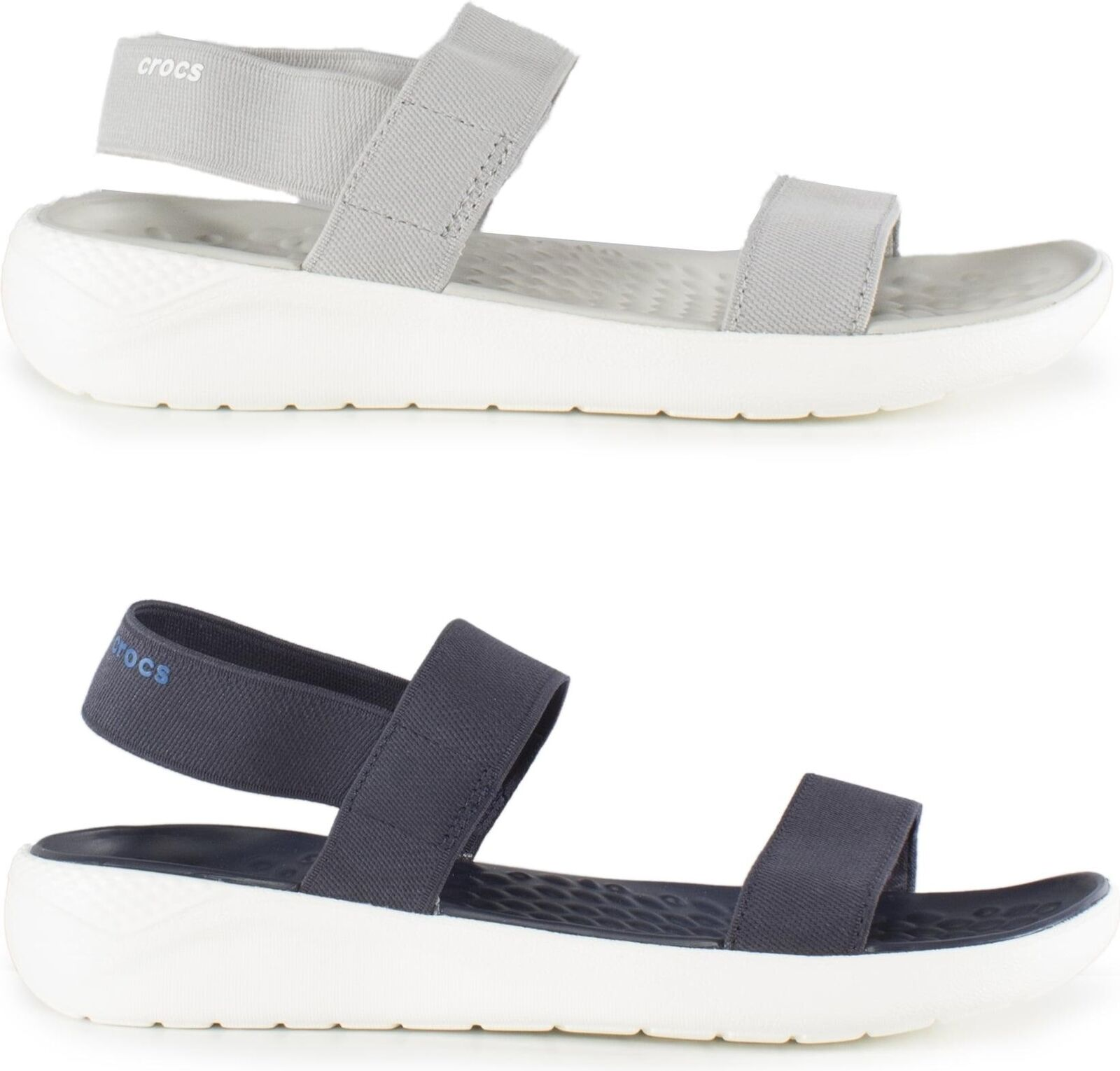 Crocs 205106 LITERIDE SANDAL Ladies Womens Beach Pool Flexible Sports Sandals