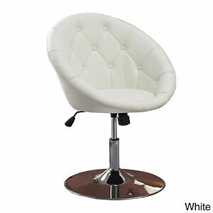 Image Is Loading White Vanity Stool Swivel Chair Seat Bedroom Furniture