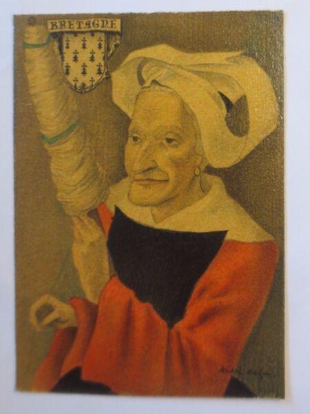 """"""" Bretagna,costume Tradizionale,copricapo Il Regione Pleyben """" 1950 (47245) Regalo Ideale Per Tutte Le Occasioni"""