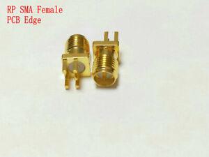 10 PCS USA Seller SMA Female Solder Edge 1.6mm PCB Mount RF Connector