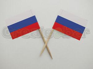 72-Russian-Flag-Picks-Buffet-Sandwich-Cupcake-Toppers-RUSSIA-Flags
