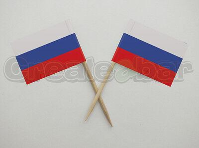 Affidabile 72 Bandiera Russa Picks-sandwich Buffet Cibo Party Decorazioni Per Bastoncini-russia Flag- Lasciamo Che Le Nostre Merci Vadano Al Mondo