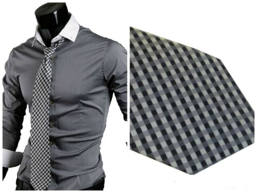 L XXL XL M GL Fashions nuove UOMO CASUAL SLIM FIT DRESS shirts cotone UK taglia S
