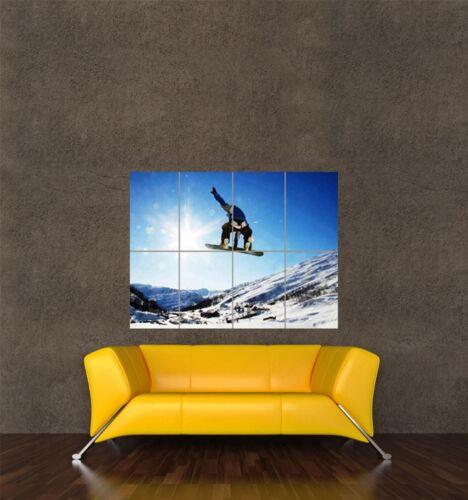POSTER PRINT PHOTO SPORT SNOW SNOWBOARD SNOWBOARDING POWDER SUNSHINE SEB383